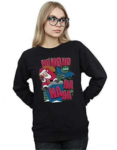 DC Comics Damen Batman and Joker Ha Ha Ha Ho Ho Ho Sweatshirt Schwarz XX-Large