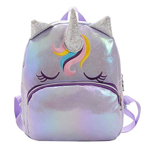 VALICLUD Mochila Unicornio para Niñas Mochila Holográfica Monedero Mini Mochila Escolar para Niños