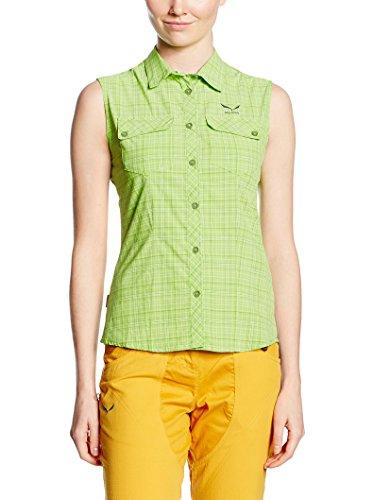Salewa Kyst 2.0 Dry W S/L SRT, T-Shirt pour Femme, Femme, T-Shirt, Vert, 40