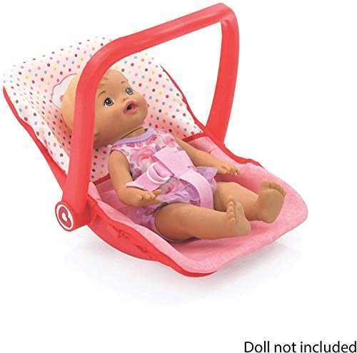 Little Mommy Doll Car Seat (D93789) - On The Go Accessory with 3 Point Harness - converts to Feeding Chair, Rocker & Great to Carry - Fits Dolls up to 18 inches, Age 3+