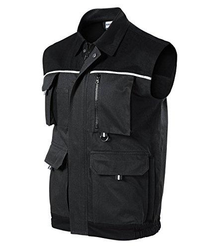 Rimeck Herren Arbeitsweste Woody Arbeitskleidung/Weste (XXL, grau)