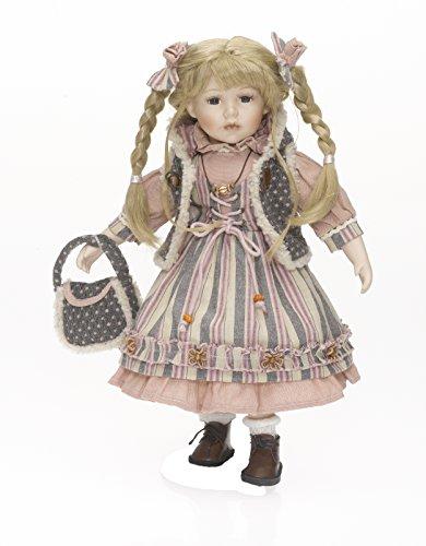 RF Collektion Sammlerpuppe, Künstlerpuppe, Porzellanpuppe, Mädchen mit Fellweste 42cm 120479