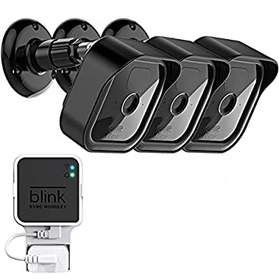 All-New Blink Outdoor Camera Surveillance Mount, Weatherproof Protective Housing and 360 Degree Adjustable Mount with Blink Sync Module 2 Mount for Blink Outdoor Security Camera System (Black, 3 Pack)