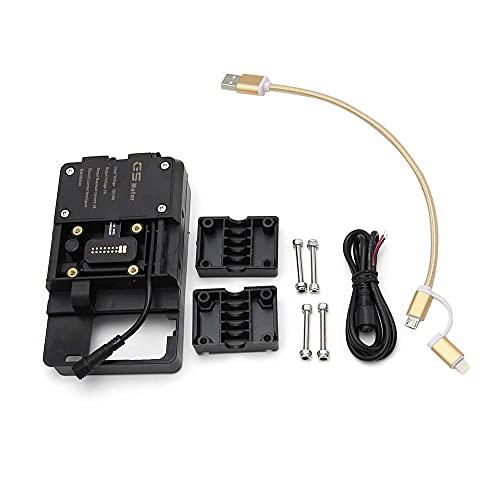 Shkalacar Staffa di Navigazione per Telefono Cellulare per Moto, Accessori per Supporti di Navigazione Mobile Adatto per BMW R1200GS LC&Adventure S1000XR R1200RS