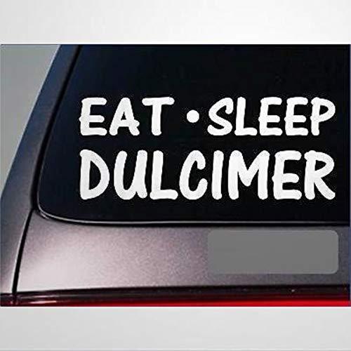Eat Sleep Dulcimer Sticker Vinyl Hammer Mountain Dulcimer Bag Strings Stickers Car Decal Window Decal Vinyl Decal Die Cut Decals Funny Laptop Stickers Bumper Stickers Present