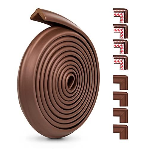 Protector de esquina de mesa para proteger de los niños, borde de seguridad para el hogar, muebles, para niños, adecuado para; protección de la esquina de la mesa (color: marrón)