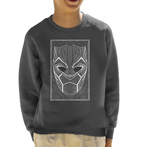 Marvel Black Panther Masker Wakanda Line Art Style Sweatshirt voor kinderen