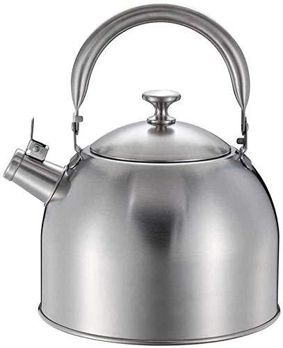 Bouilloire induction Kettle universelle 304 En acier inoxydable Siffoir de sifflement 3.5 / 5L Capacité de grande capacité Ménage à gaz d'induction de gaz d'induction de gaz argent WHLONG