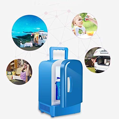 QXF-C bx nevera pequeña Refrigerador de coches, mini refrigerador 4 litros / 6 Can AC/DC portátil refrigerador termoeléctrico y calentador de Outlet y 12V cargador de coche a+