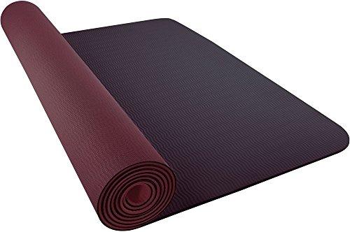 Nike JDI Yoga Mat voor volwassenen, 3 mm 2.0 204, smoky mauve/burgundy trainingsmat, onesize