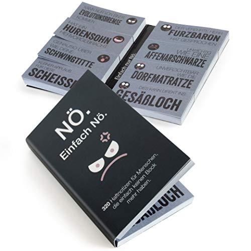 OfficeTree Haftnotizen Lustig für Studenten die Einfach keinen Bock mehr haben - Klebezettel mit Sprüchen als Büro Gadgets - Funny Sticky Notes für die linke sowie rechte Buchseite - 320 Blatt 20x50mm