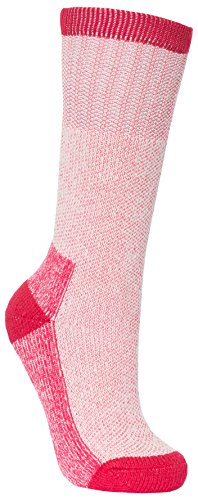 Trespass Caray, Raspberry, 3/6, Warme Socken für Damen, 36-39, Rosa / Pink