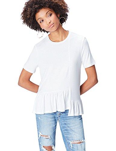 Marca Amazon - find. Camiseta con Volantes  para Mujer