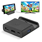 Powerextra Base de Carga para Nintendo Switch, Modo Dual Convertidor TV y Switch Base Portatil con Puerto 4K HDMI Adaptador, Type-C, USB 3.0 y 2.0 (Negro)