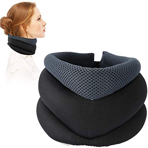 LIUDOU Neck Support Cervical Correction Support Fixed Neck Protection Collar Traction Device Improve Spine Alignment Adjustable Neck Pillow To Relieve Muscle Pain