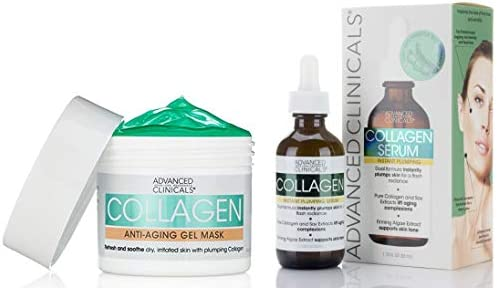 Advanced Clinicals Anti Aging Collagen Facial Skin Care Set Collagen Serum for Face For Wrinkles product image