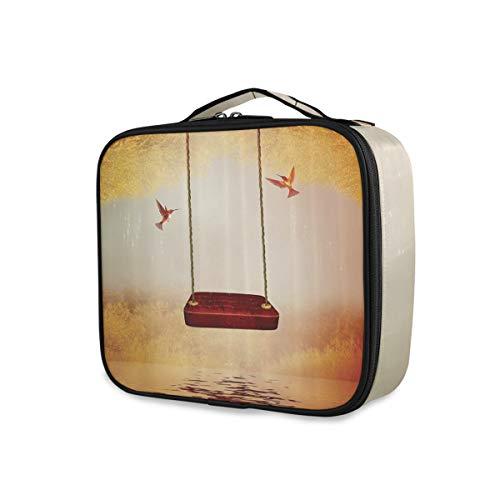 SUGARHE Hamac rouge colibri et conception de lac tranquille de conte de fées fantastique,Beauty Case,Borsa Cosmetica Portatile Professionale per Trucco per