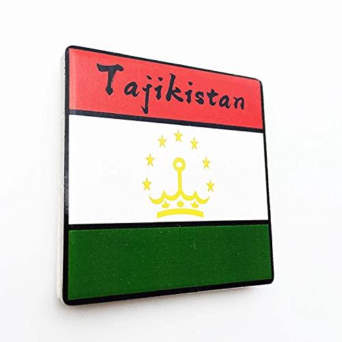 Weekino Flagge Tadschikistan Kühlschrankmagnet 3D Polyresin Touristische Stadtreise City Souvenir Collection Geschenk Starker Kühlschrank Aufkleber
