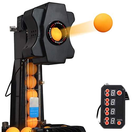 SWTY Automatische Ping Pong Tischtennis Maschine, Tischtennis Ball-Fangnetz 7 einstellbare Winkel/einstellbare Drehrichtung/Langer und kurzer Ball, sicher - Übungswerkzeug zum Selbststudium