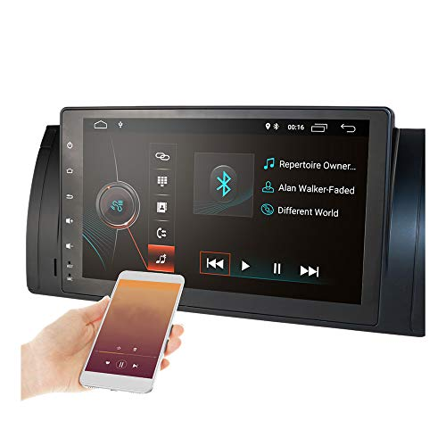 TOOGOO 9 Zoll Android 9.1 2 + 16G Auto GPS Navigation Multimedia Spieler Auto Radio Auto Stereo Spieler für E39 E53 X5