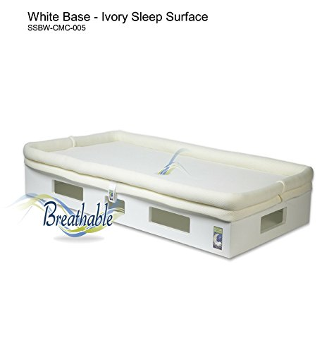 Secure Beginnings Safesleep Breathable Crib Mattress, White/Ivory