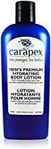 Body Lotion for Men - Carapex Premium Hydrating Body Lotion for Men, Natural Unscented Body & Hand Lotion for Dry Skin, Sensitive Skin, Rough Skin, No Parabens, Non Greasy, 8oz (Single)