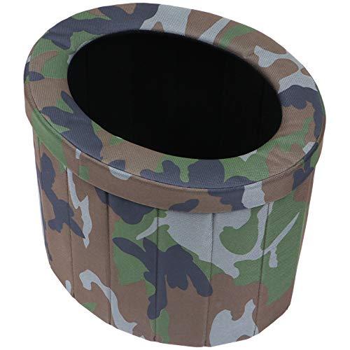 Porta de vaso sanitário portátil dobrável, vaso sanitário para acampamento, uso ao ar livre