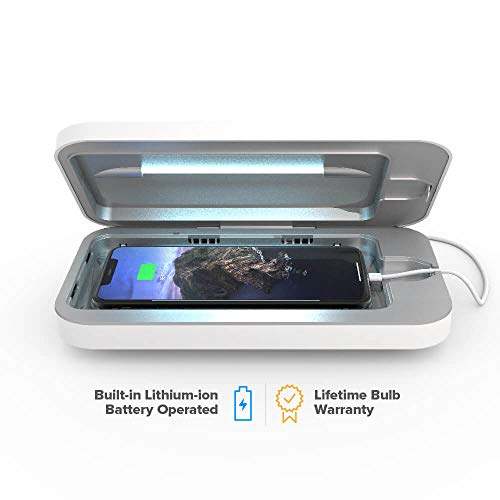 PhoneSoap Go- Mobile Battery Powered UV Sanitzer - White