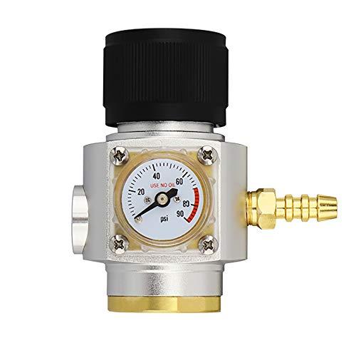 Poweka CO2 Keg Charger Mini Regler Gasregler Druckminderer Adapter für Sodastream Glasflaschen Aquarium Bier Wasserpflanzen
