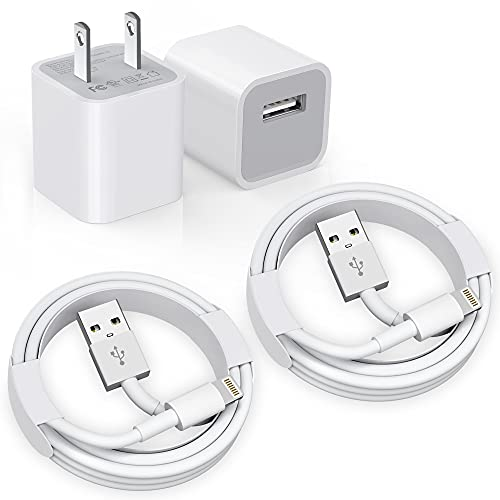 iPhone Charger, [Apple MFi Certified] 2Pack Apple iPhone Charger to USB Fast Charging Data Sync Transfer Cable with USB Wall Charger Travel Plug Compatible iPhone 12/11/11 Pro/Xs/XR/X/8/8Plus and More