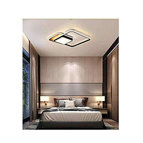 HLY Candelabro decorativo, Lámpara de techo, Lámpara de techo LED geométrica cuadrada, Lámpara LED de ahorro de energía y protección del medio ambiente, Lámpara de sala de estar de dormitorio regulab