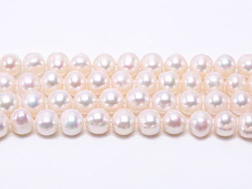 JYX Pearl Strands Necklace AAA Quality 9.0mm Classic Flat Round White Freshwater Pearl Necklace 16-64