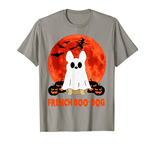 French Boo Dog Frenchie French Bulldog Boo Dogs Halloween T-Shirt