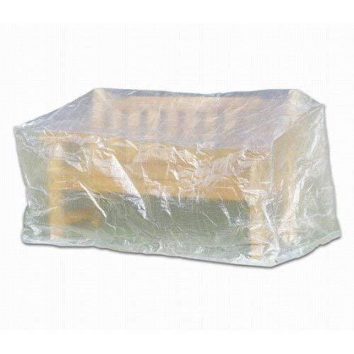 PrimeGarden Komfort Schutzhülle für Gartenbank Bank, 160 x 75 x 78 cm, transparent