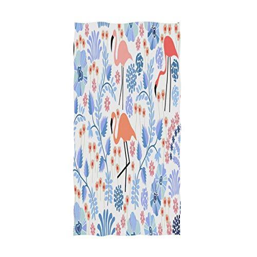 Bert-Collins Toallas de Mano Grandes de Flores y Hojas Tropicales, baño de Flamenco Toallas de Ducha de baño Toallas Multiusos Muy absorbentes (40x70cm)