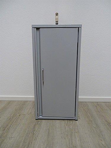 Mobiles Waschbecken Grau Inklusive Edelstahlspüle/ Sofort einsatzbereit / Tauchpumpe, Netzteil, Wasserhahn, 2 Kanister je 15 Liter Volumen für Frischwasser und Abwasser