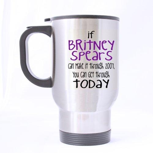 Joli motif Superstar-mug Britney Spears survécu 2007 si vous pouvez vous rendre au thème aujourd'hui 100% matériau Mugs de voyage-Inox - 14 oz tailles