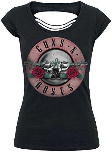 Guns N Roses Pink Bullet Frauen T-Shirt schwarz S 100% Baumwolle Band-Merch, Bands