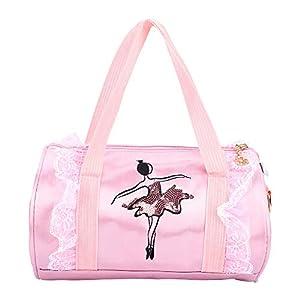 Bolso de ballet para niñas Ballet Princess Dance Bag Ballet Bolso de baile latino Bolso de hombro Bolso cruzado con…