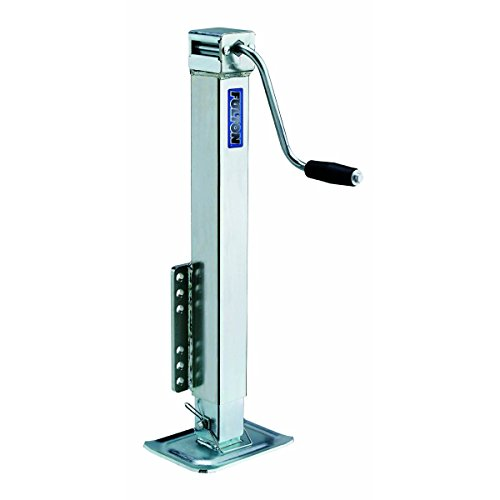 Fulton HD50000101 Bolt-On Trailer Tongue Jack with Drop Leg - 5000 lb. Weight Capacity, Beige