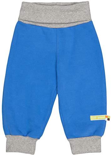 loud + proud Jungen Sweat Uni Aus Bio Baumwolle, GOTS Zertifiziert Hose, Blau (Cobalt Cob), 80 (Herstellergröße: 74/80)
