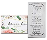 Chosen One Loved & Gifted 7.5'x15' Marriage Prayer Wall Decor - Bedroom Decor for Couples and Wedding Registry Ideas, Engagement Gifts, Bridal Shower Gifts, Wedding Gifts