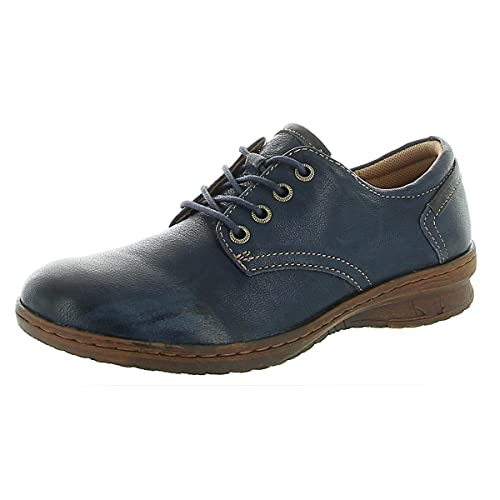 Comfortiva Womens Fielding Leather Lace-up Oxfords Navy 8 Medium (B,M)