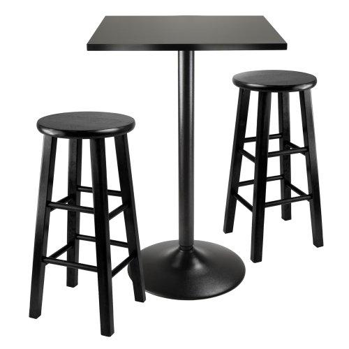 Hot Sale Winsome Obsidian 3-Piece Pub Table Set