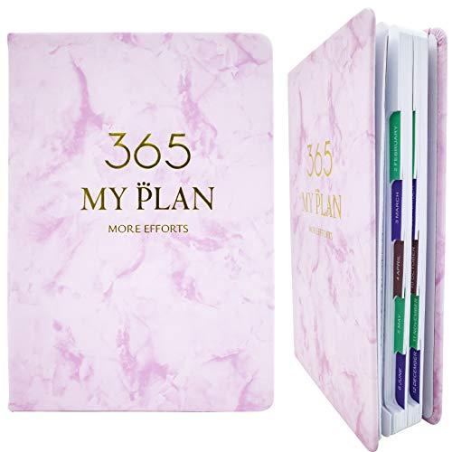 Planer 2021 Tagesplaner 2021–2022 – 12-Monatsplaner mit Trennblättern, Tagesplaner, Stundenplaner für Hausaufgaben – akademischer Lehrer und Studenten, dicke Papierdrahtbindung (rosa, 12,7 x 21,1 cm)