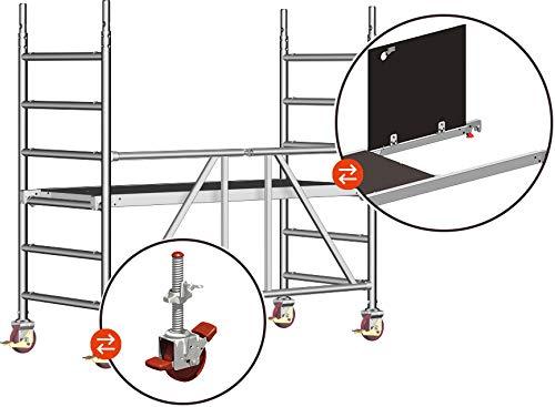 Layher Rollgerüst Zifa hawego PLUS AH 3,00 m - mit höhenverstellbaren Rollen und Durchstieg
