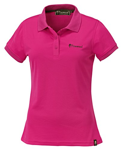 Pinewood Damen Ramsey Poloshirt, Hot Pink, XS