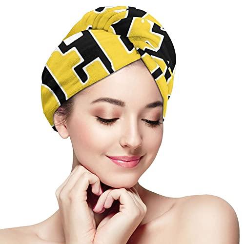 Toalla de pelo Tetas Cerveza Microfibra Toallas de pelo Belleza Baño Cabello Cap secado rápido Wrap para el pelo rizado mujeres turbante