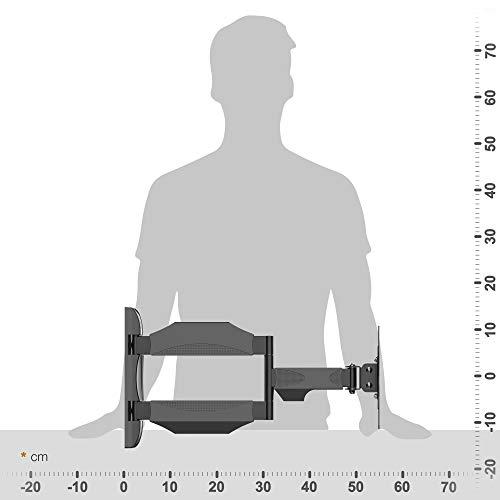 RICOO Wandhalterung TV Schwenkbar Neigbar S0822 Fernseher Wandhalter Schwenkbare Halterung VESA 200×200 für 38cm/15″ 43cm/17″ 48cm/19″ 56cm/22″ 60cm/24″ 66cm/26″ 68cm/27″ 74cm/29″ 76cm/30″ 81cm/32″ 94cm/37″ 102cm/40″ 107cm/42″ 112cm/44″ 117cm/46″ 120cm/47″ Zoll - 4