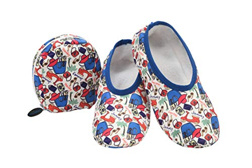 Snoozies Skinnies & Travel Pouch | Purse Slippers for Women | Travel Flats with Pouch | Cute Prints Mixed Designs | Travel | Medium